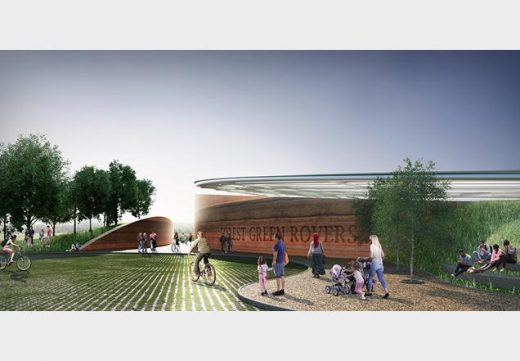 Forest Green Rovers Eco-park Design Competition by AFL Architects