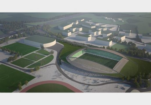 Forest Green Rovers Eco-park Design by Glenn Howells