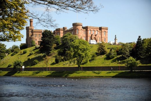 Inverness Castle across the river