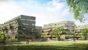 Luxembourg Housing Contest design by AZPML architects