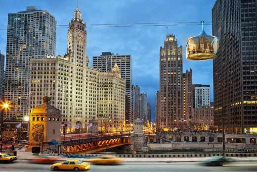 New Aerial Cable Car in Chicago by Marks Barfield Architects