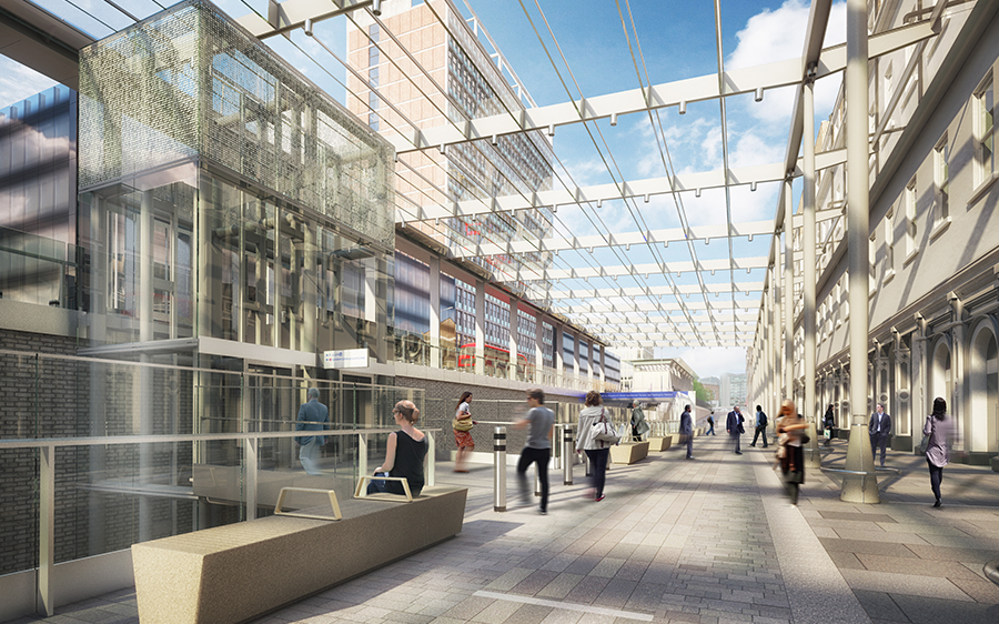 Crossrail Place Retail And Roof Garden E Architect