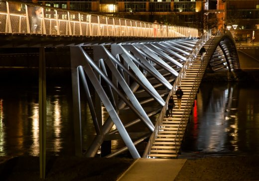 Peace Footbridge in southern France design by Dietmar Feichtinger Architectes
