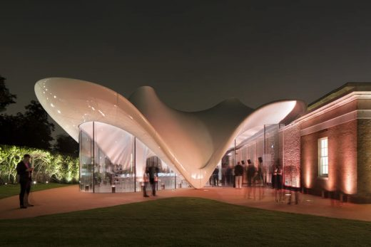 Serpentine Sackler Gallery building by Zaha Hadid Architects