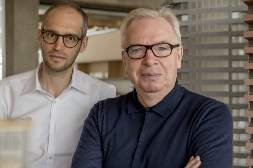 Sir David Chipperfield with Swiss architect Simon Kretz