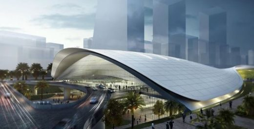 Singapore high-speed rail station building