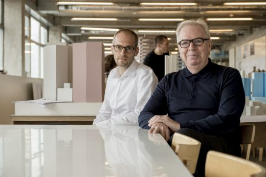 Swiss architect Simon Kretz with Sir David Chipperfield