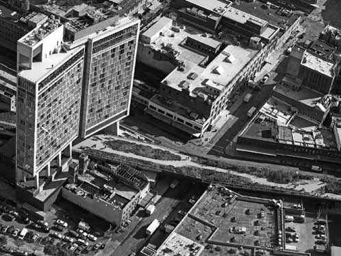 The Standard Hotel New York historic aerial photo