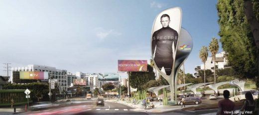 Zaha Hadid Billboard on Sunset Strip design