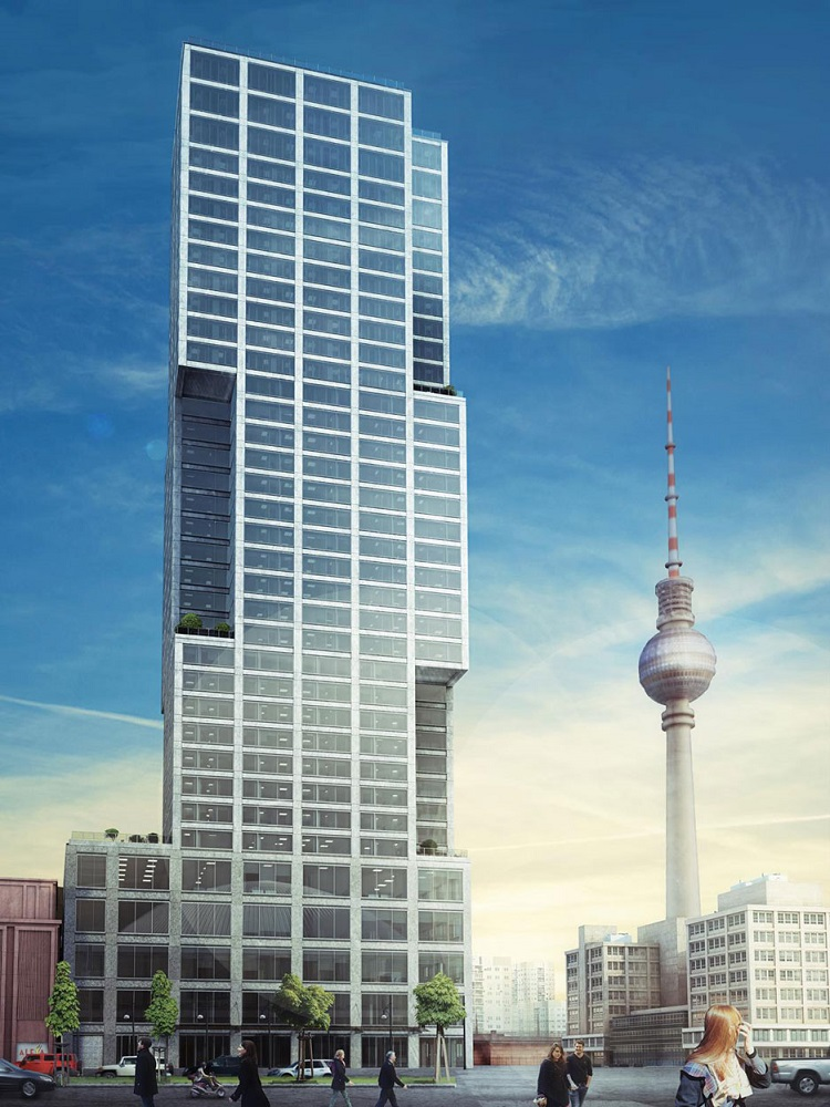 Alexander berlin capital tower building skyscraper e - Capital tower fitness first swimming pool ...