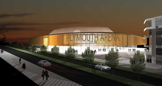 Pavilions Arena Plymouth building design