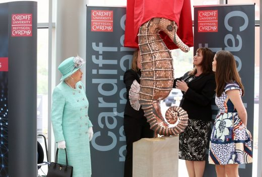 Cardiff University Brain Research Imaging Centre with HM The Queen
