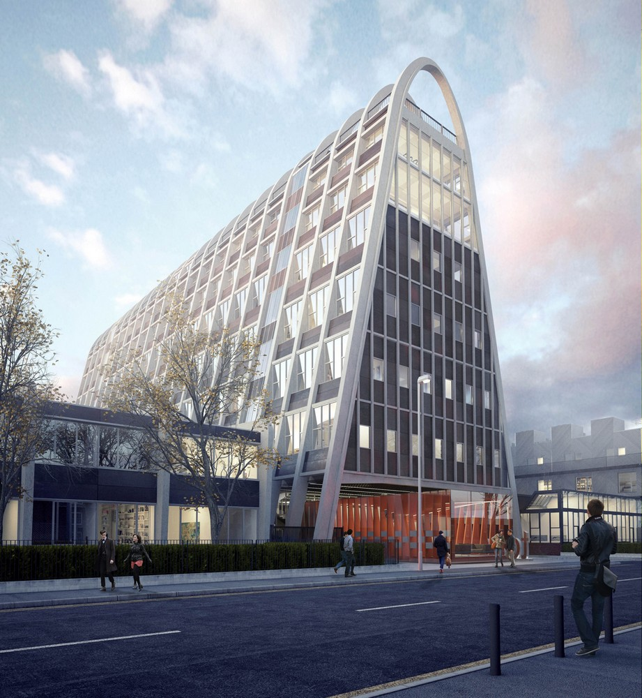 Manchester toast rack flats e architect for Is architecture