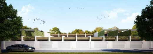 Patio Houses and 12 Row Houses design by LAD, Architects