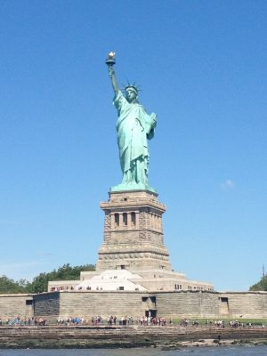 Statue of Liberty New York from sea