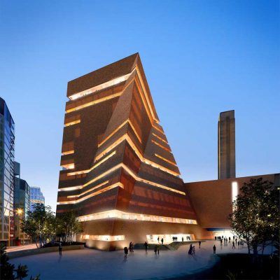 Tate Modern Extension Building at dusk