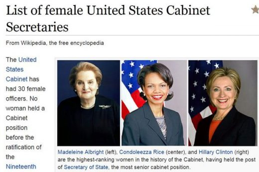 Female United States Cabinet Secretaries