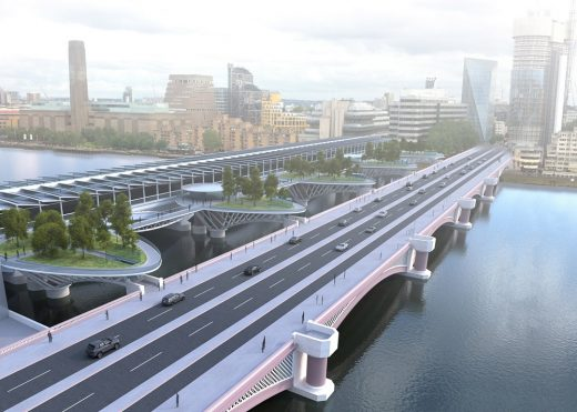 London Garden Bridge Concept at Blackfriars by Crispin Wride Architects Design Studio Ltd