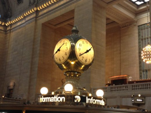 Grand Central New York building clock