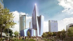 k18B Building Complex in Vilnius by Libeskind Downtown Tower