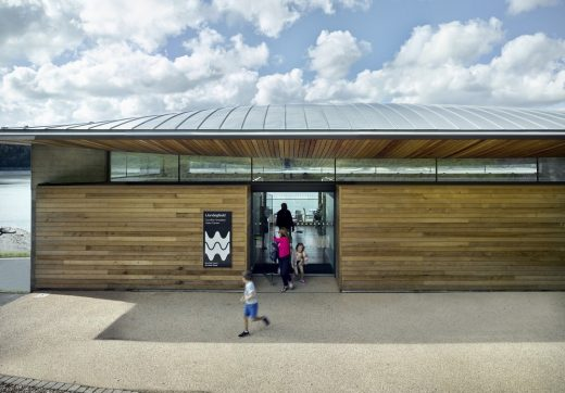 Llandegfedd Visitor and Watersports centre building Pontypool