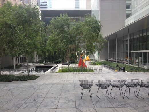 MoMA New York building garden