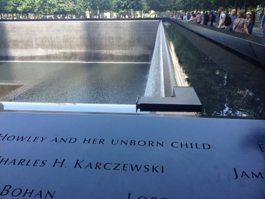 National September 11 Memorial reflecting pool inscription