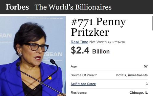 38th Secretary of Commerce Penny Pritzker