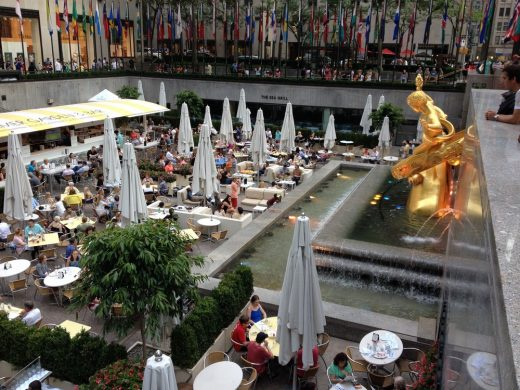 Rockefeller New York plaza dining