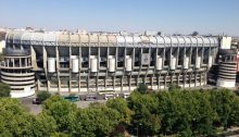 Santiago Bernabeu Stadium building in Madrid