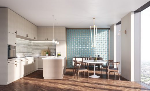 Geraghty Taylor Architects St  Johns Place Manchester residential Tower Allied London Kitchen