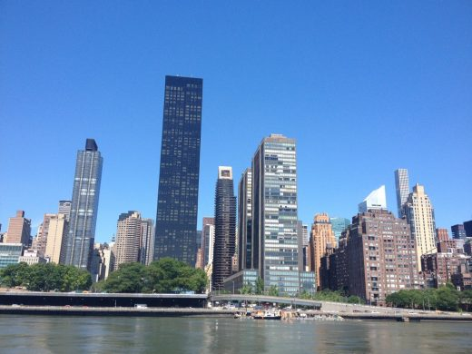 Trump World Tower New York from the East River