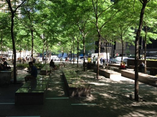 Zuccotti Park Lower Manhattan