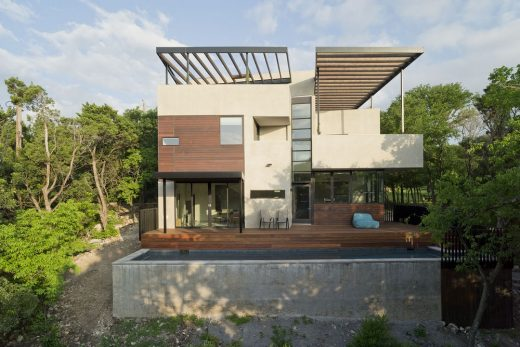Carved Cube House in West Austin