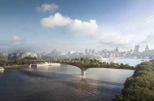 Garden Bridge across the River Thames in London