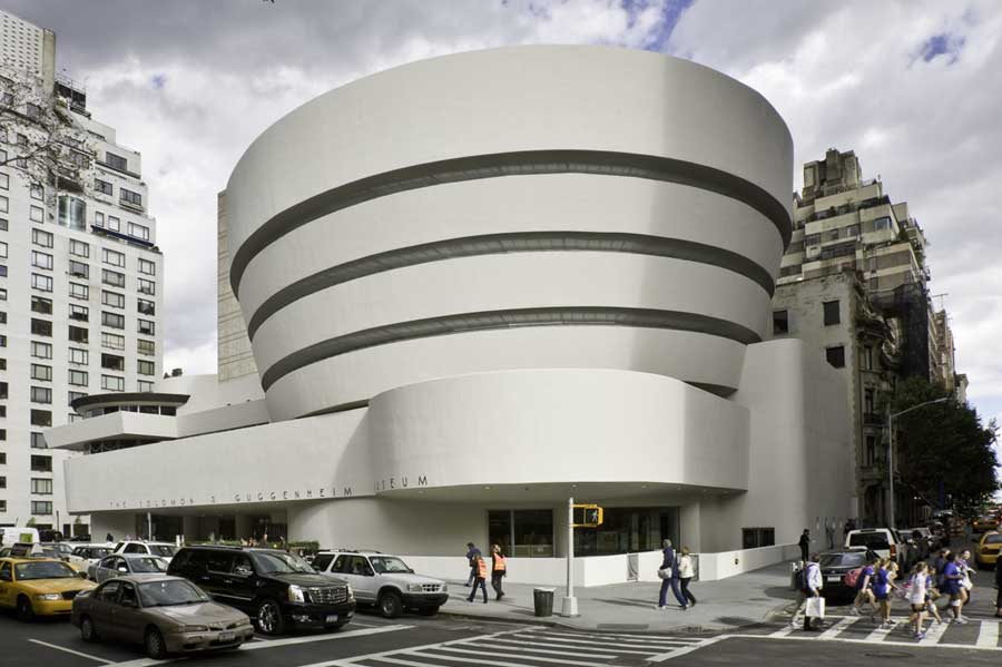 Modern Architecture New York City guggenheim new york museumfrank lloyd wright - e-architect