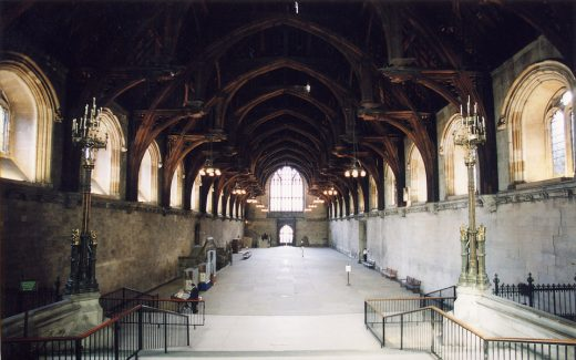 Westminster Hall London building interior