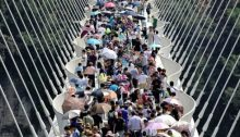 World's longest glass pedestrian bridge