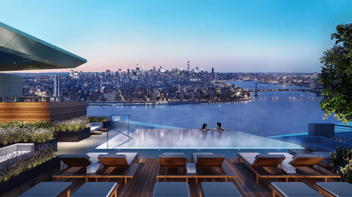 Brooklyn point 138 willoughby street infinity pool e for Infinity pool design uk
