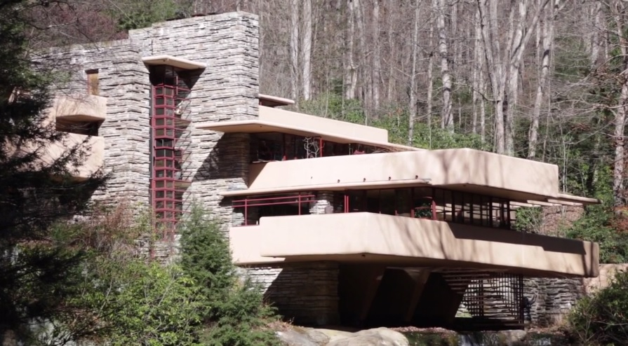 fallingwater by architect frank lloyd wright mill run