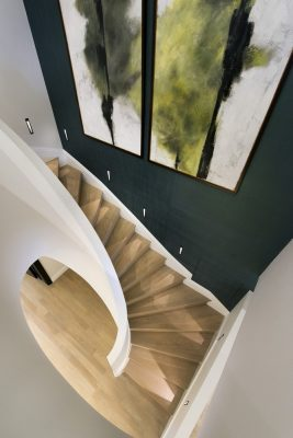 The Park Crescent by Amazon Property staircase with artwork