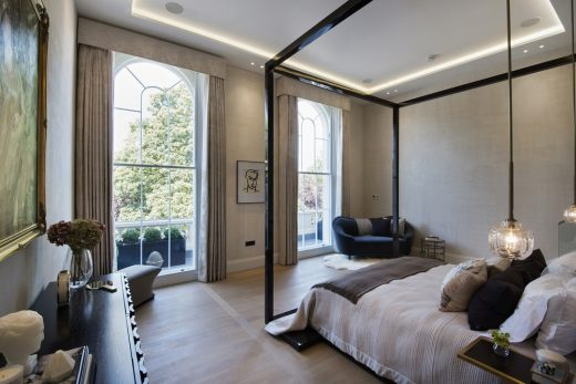 The Park Crescent by Amazon Property Master Bedroom suite looking out of windows