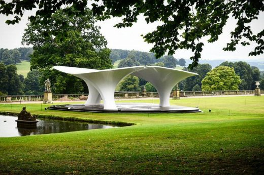 Zaha Hadid Pavilion at Chatsworth House