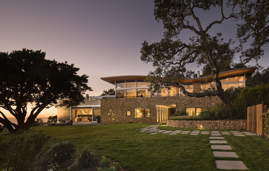 Coastlands house in big sur 6 e architect for Big houses in america