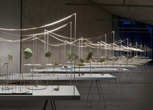 exhibiton of the Bouroullec brothers at Zaha Hadid's Fire Station