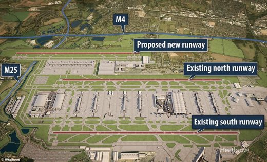 Heathrow Airport London new third runway proposal