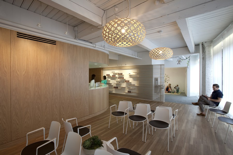 Medical dermatology clinic in chicago e architect for Dermatology clinic interior design