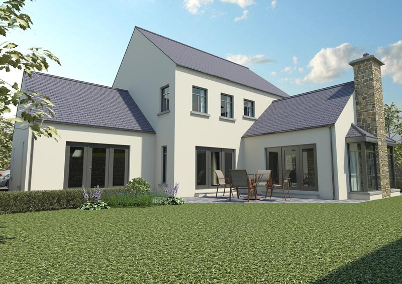 New timber frame house build in ireland e architect for Building a timber frame house