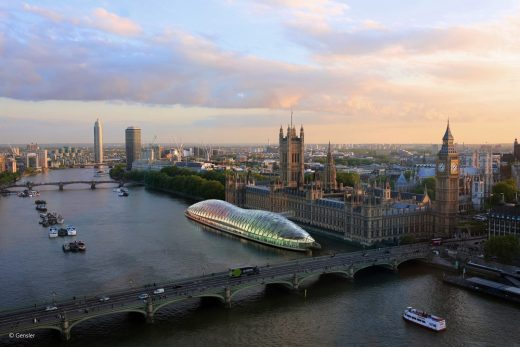 Temporary UK Parliament on the River Thames by Gensler London
