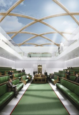 Temporary UK Parliament Concept on the Thames